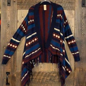 Tribal pattern long sleeve cardigan ♦️🔷♥️